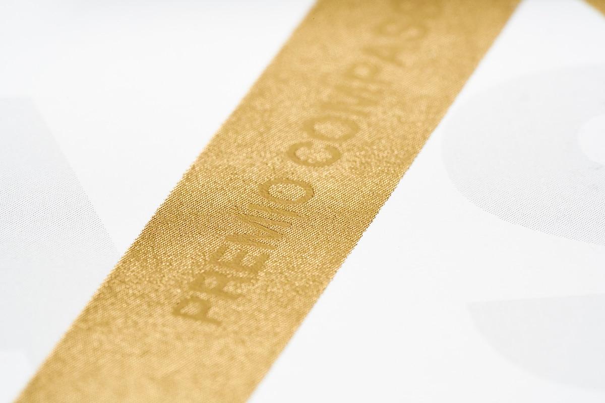 Progetto grafico XXVI Compasso d'Oro ADI - Dettaglio Oro